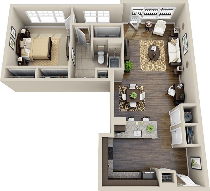 L Shaped Design Floor Plans