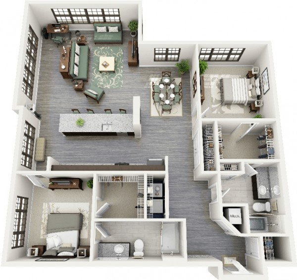 title | 2 Bedroom Apartment Layout