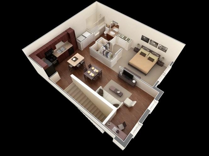 One Bedroom Walk Up Apartment Interior Design Ideas