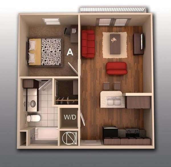 Dining Room At Kendall College: 1 Bedroom Apartment/House Plans