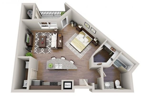 premium countertops hardwood floors and comfortable sizes make