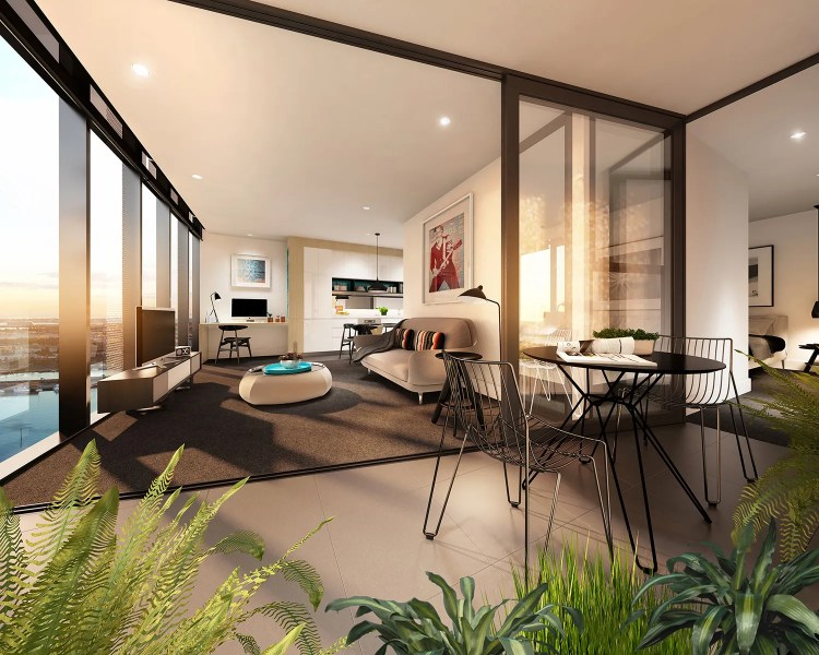 Studio Balcony Glassinterior Design Ideas