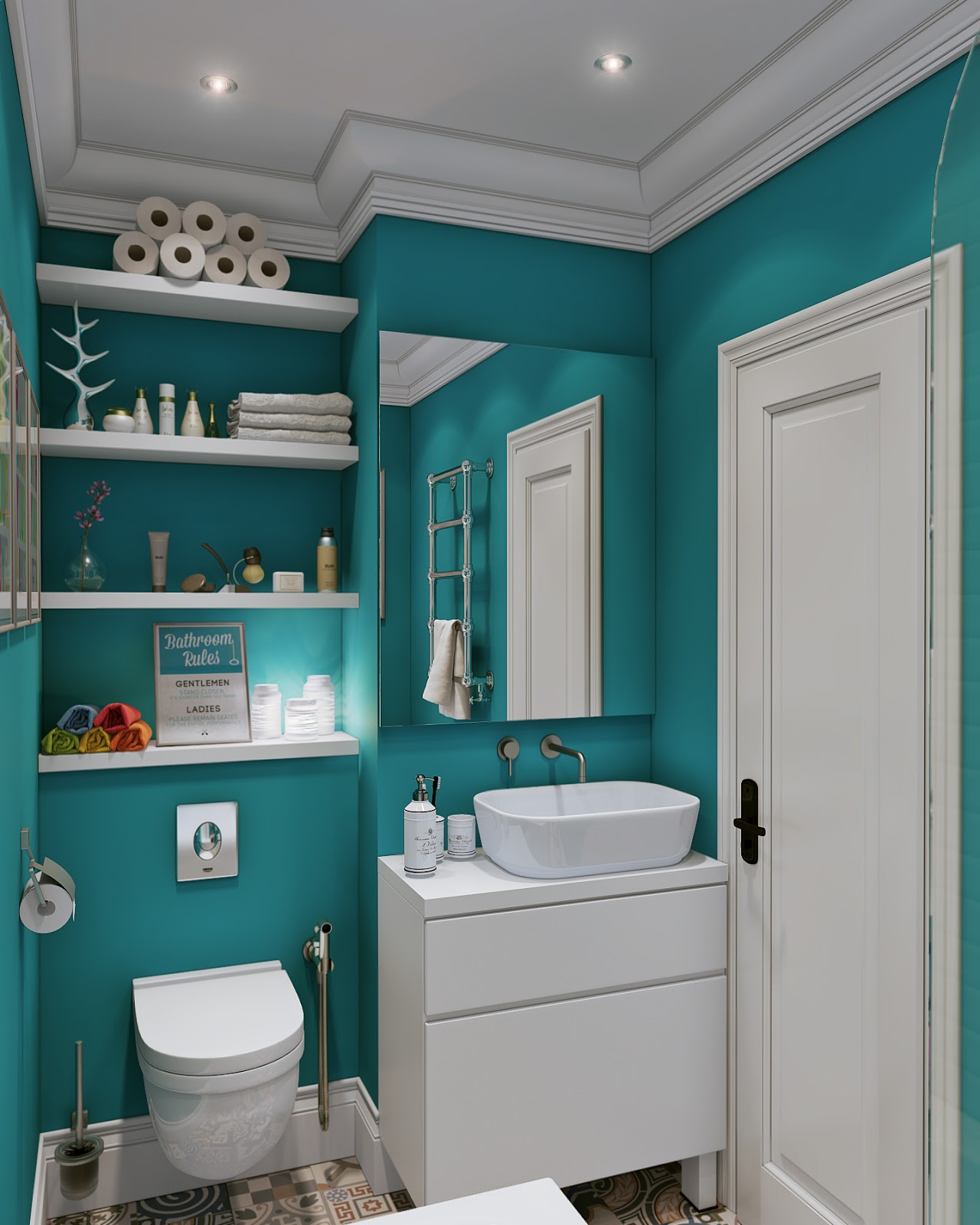 Turquoise And Grey Bathroom Accessories