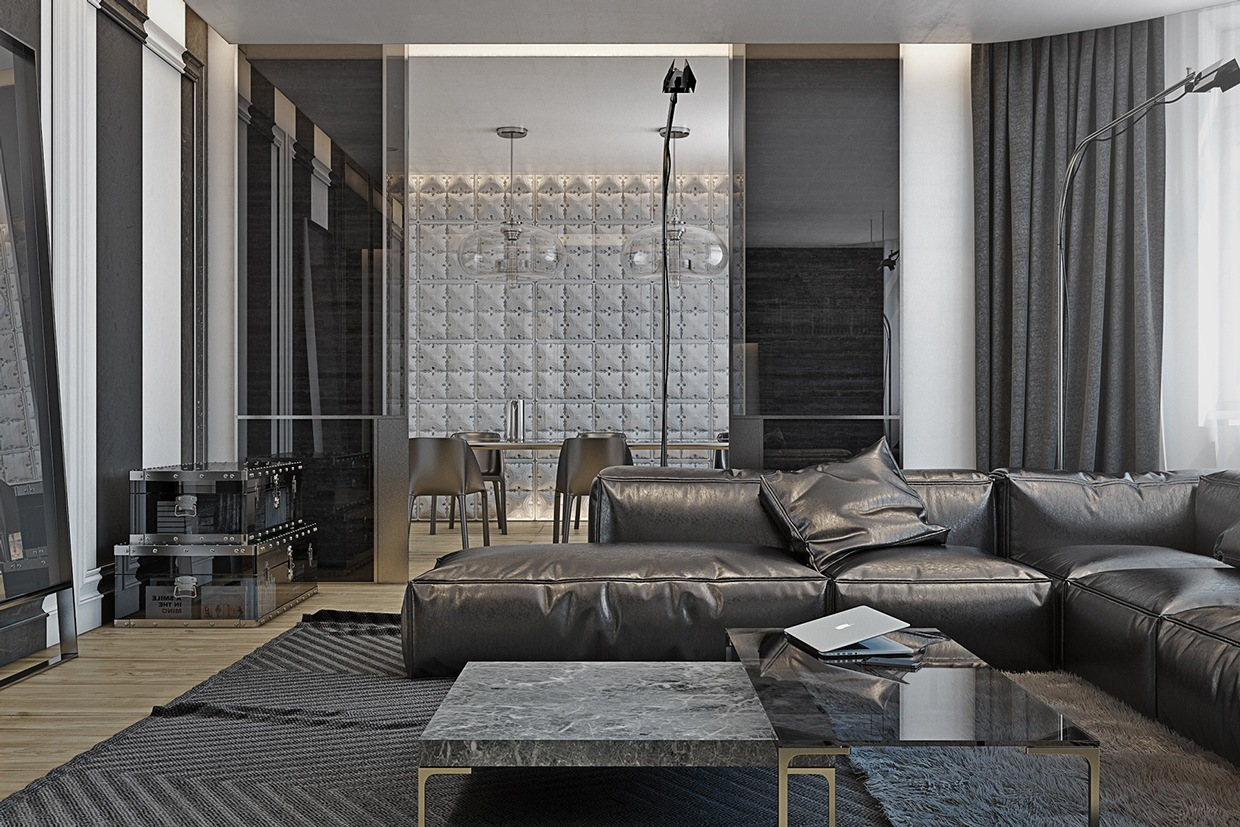 4 Masculine Apartments With Super Comfy Sofas And Sleek
