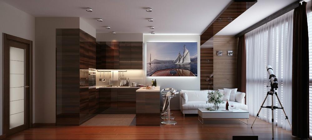 Nautical Theme Apartment Interior Design Ideas