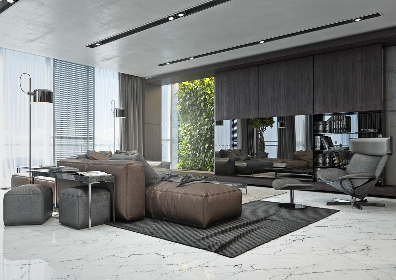 Ultra Modern Living Room Decorating Ideas