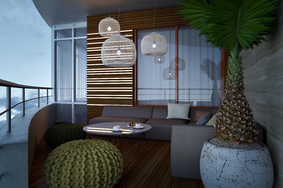 Tropical Balcony Design Interior Design Ideas