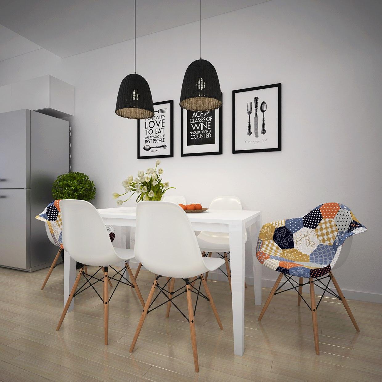 Patchwork Dining Chair Interior Design Ideas