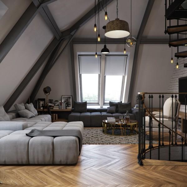 Slant Roof Ceiling