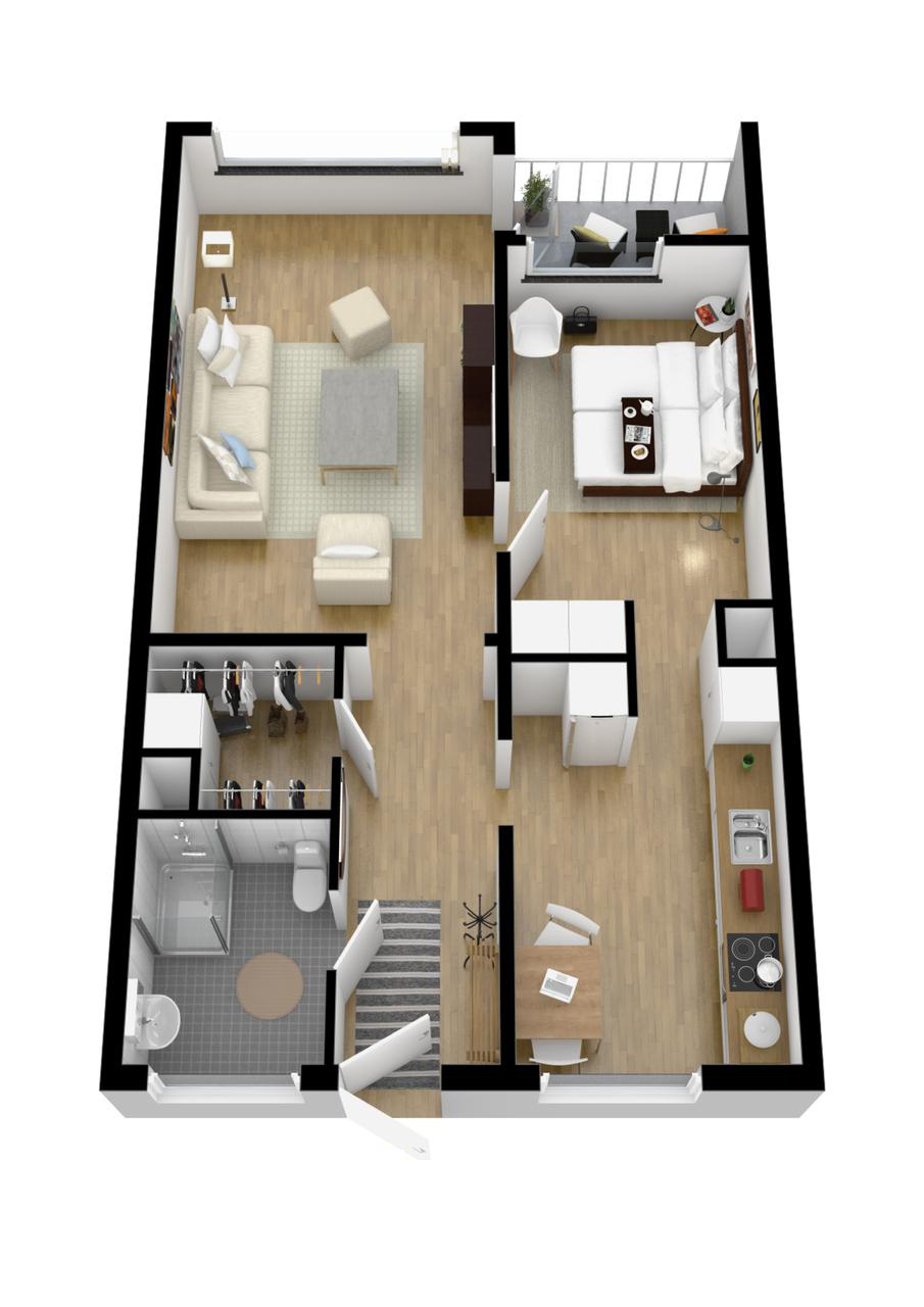 one bedroom ideas   Interior Design Ideas  Like Architecture   Interior Design  Follow Us