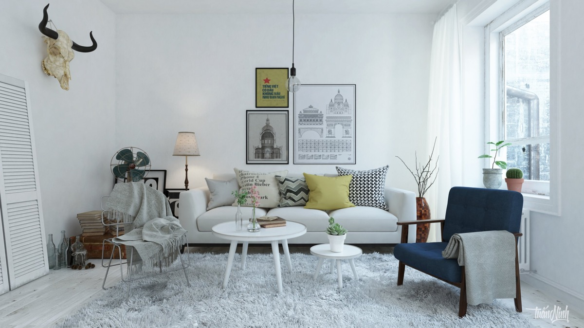 Yellow And Grey Living Rooms