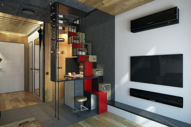 Micro Home Design A Super Tiny Apartment With Just 18 Square Meter Area Under 200 Feet