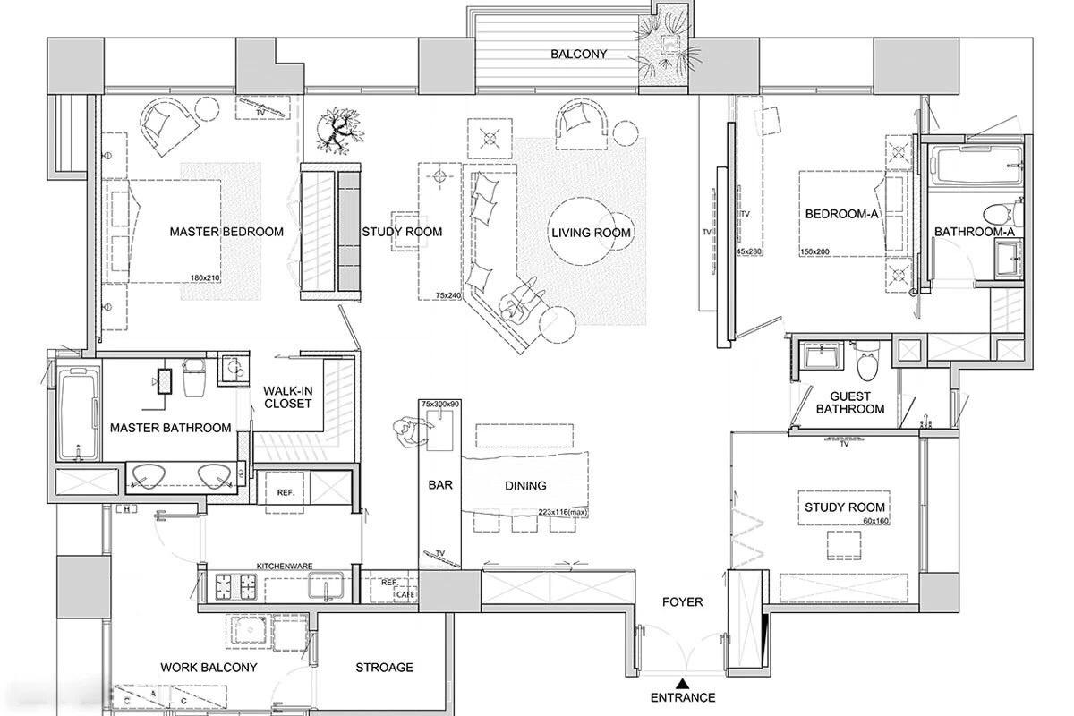 Asian style floorplans