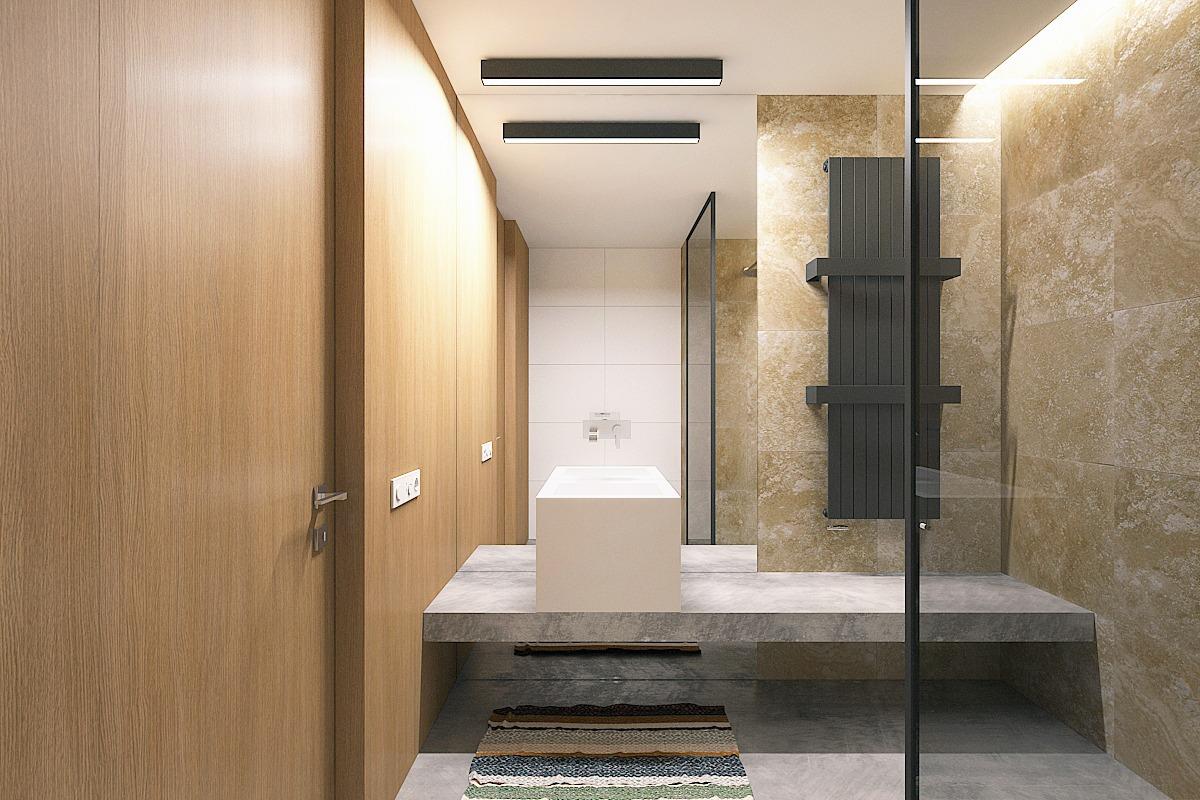 Small bathroom with glass tiles. bathroom tile design custom tile ...