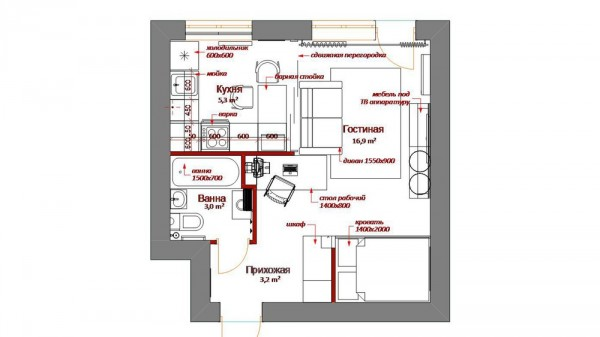 Long Narrow Kitchen Floor Plans