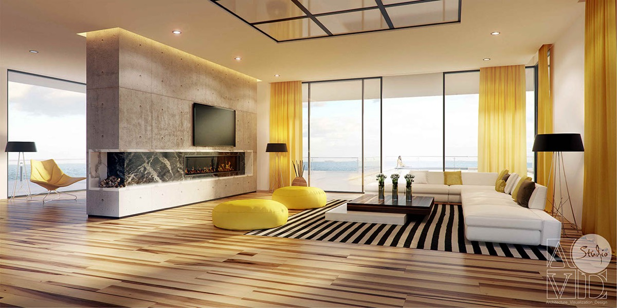 Yellow Living Rooms paint