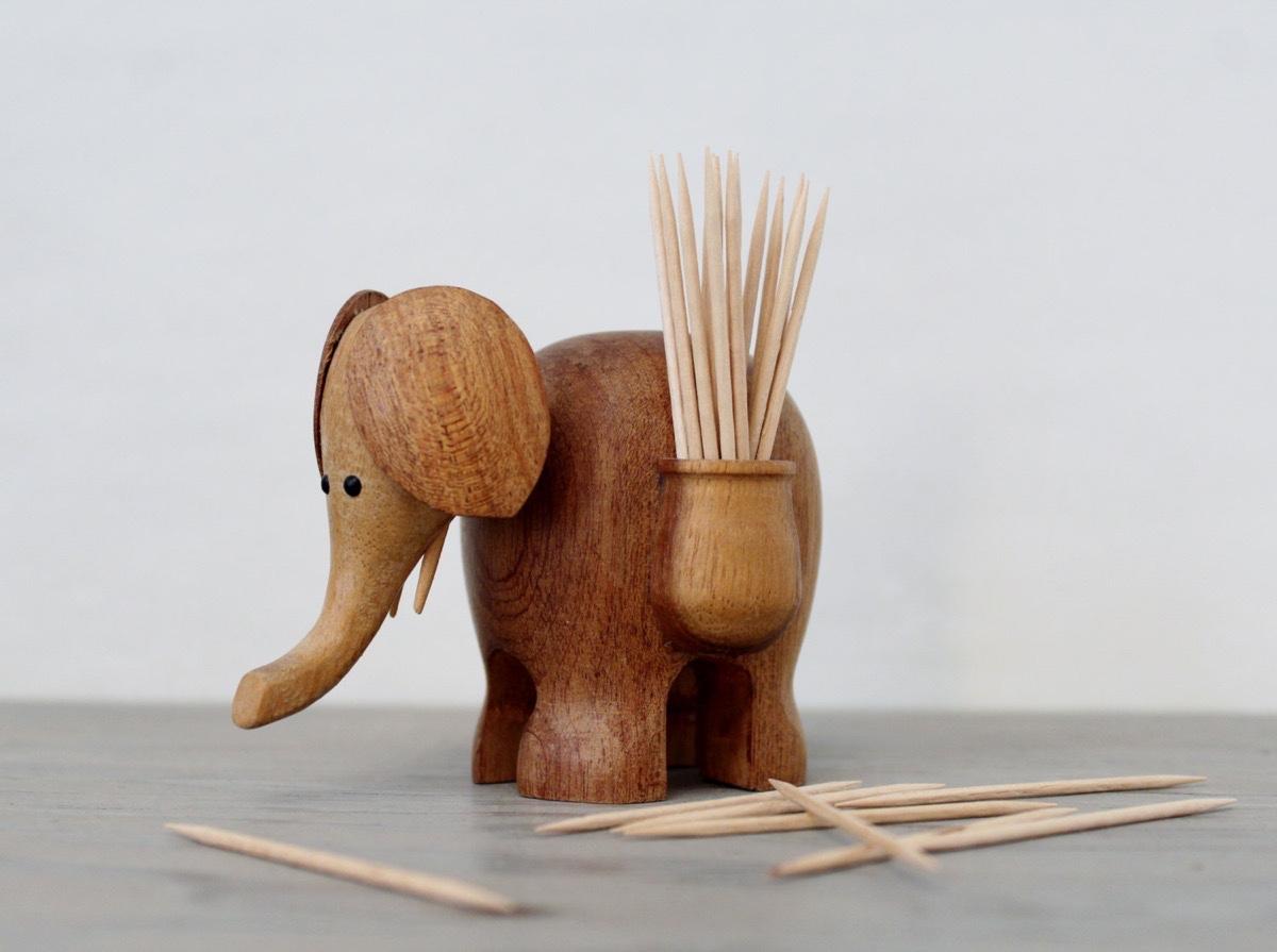 Wooden Elephant Toothpick Holder Interior Design Ideas