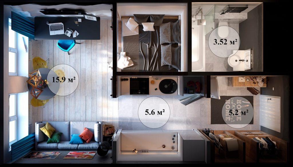 Kitchen Dining Living Room Floor Plans