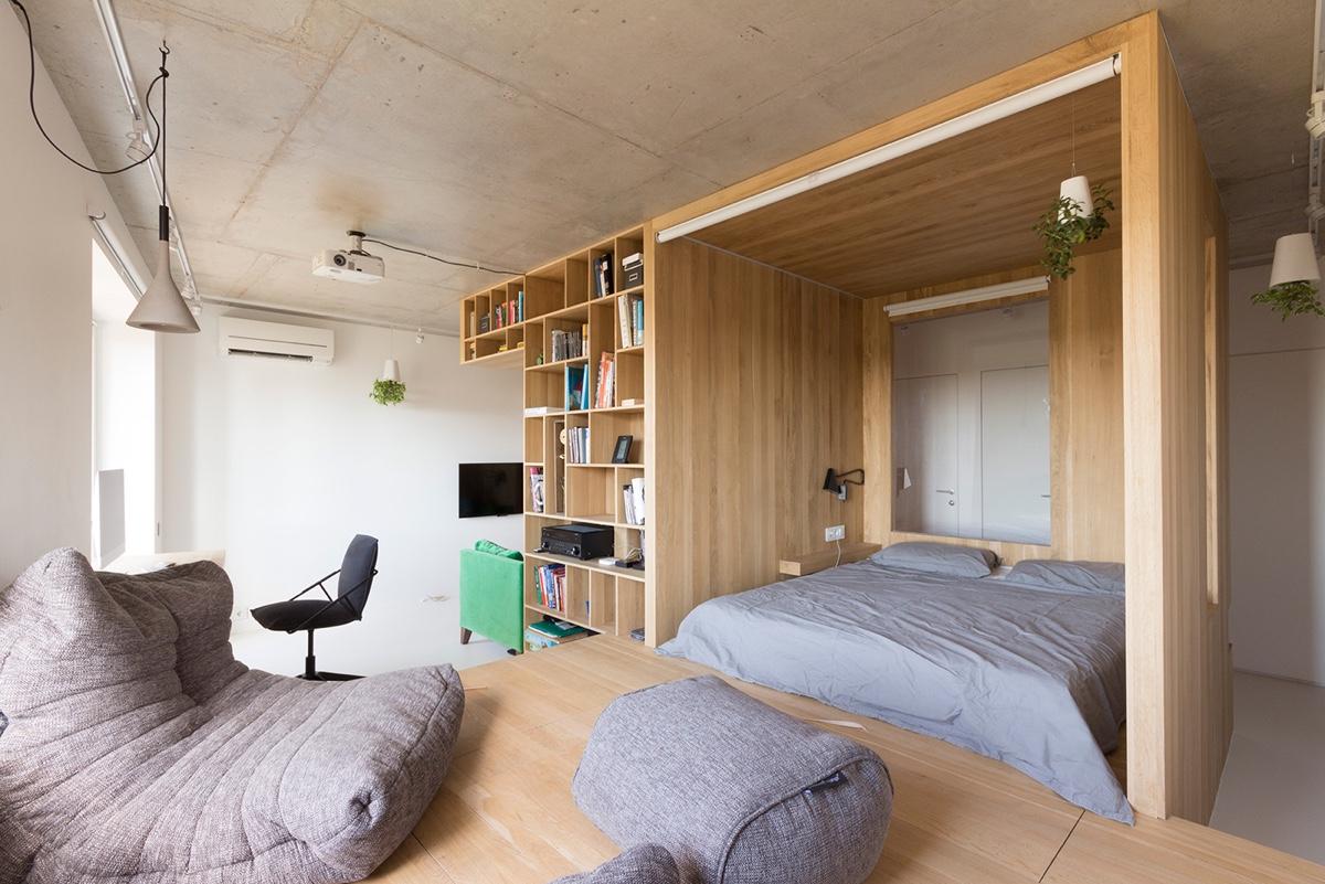 Super Small Studio Apartment Under 50 Square Meters