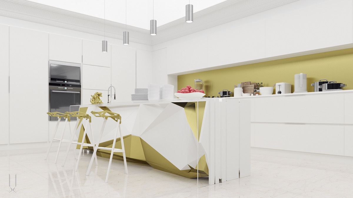 L Shaped Modern Kitchen Designs