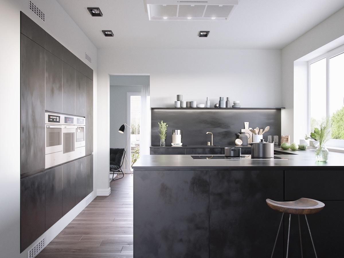 40 Beautiful Black Amp White Kitchen Designs