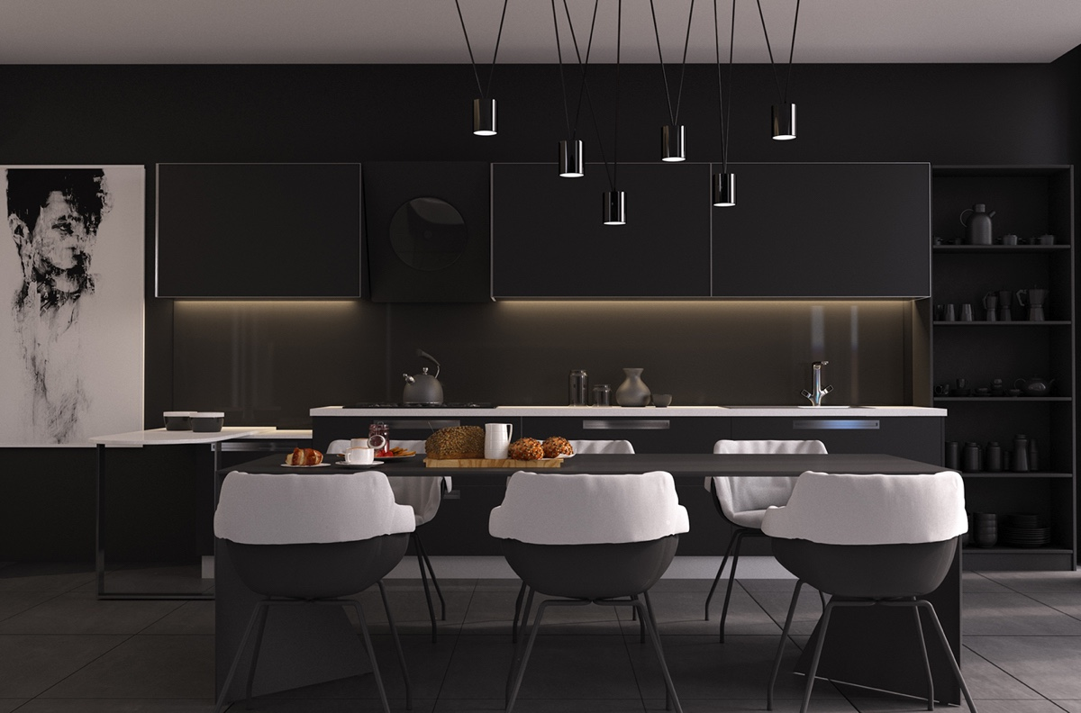 4 Gorgeous Homes With Matte Black Walls