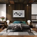 25 Beautiful Examples Of Bedroom Accent Walls That Use Slats