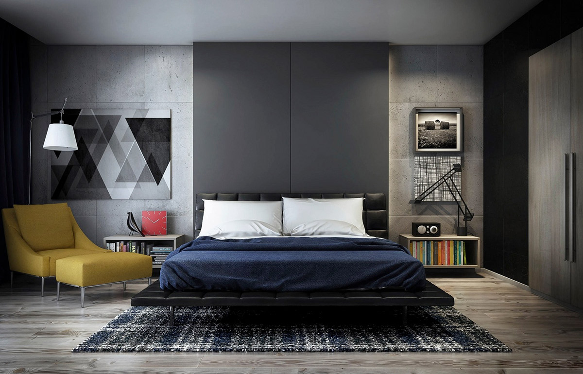 Concrete Wall Designs  30 Striking Bedrooms That Use Concrete Finish     Concrete Wall Designs  30 Striking Bedrooms That Use Concrete Finish  Artfully