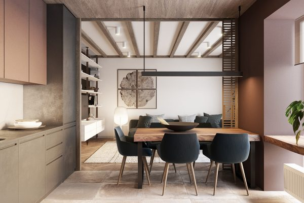 When the living area flows into the dining room everything feels bigger and it is easy to entertain