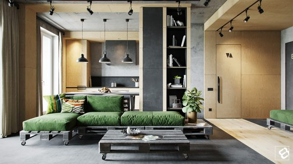 Industrial Style Living Room Design The Essential Guide Free Cad