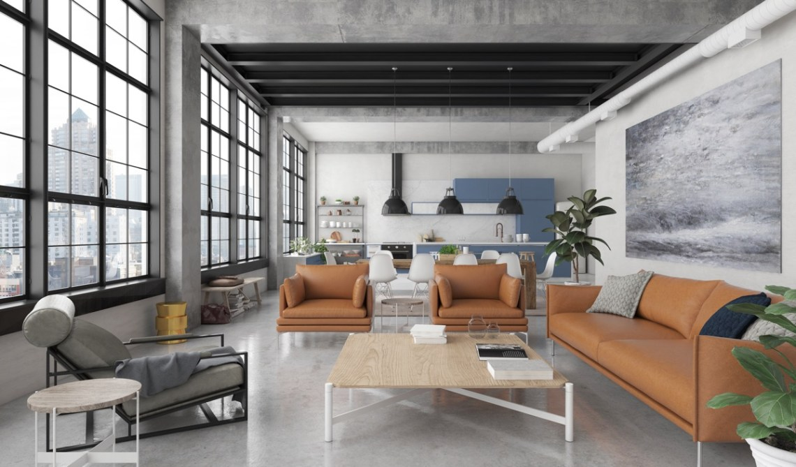 HOME DESIGNING: Industrial Style Living Room Design: The ...