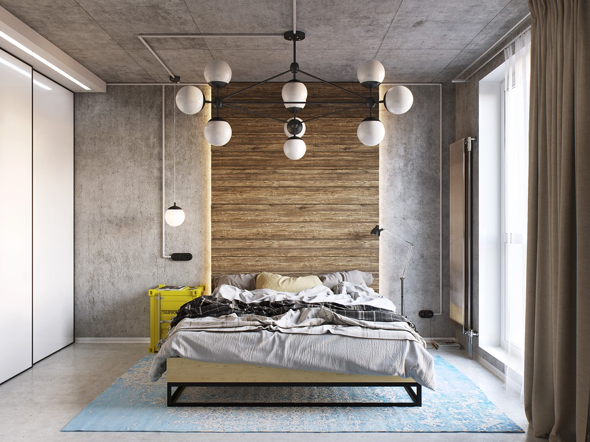HOME DESIGNING: Industrial Style Bedroom Design: The