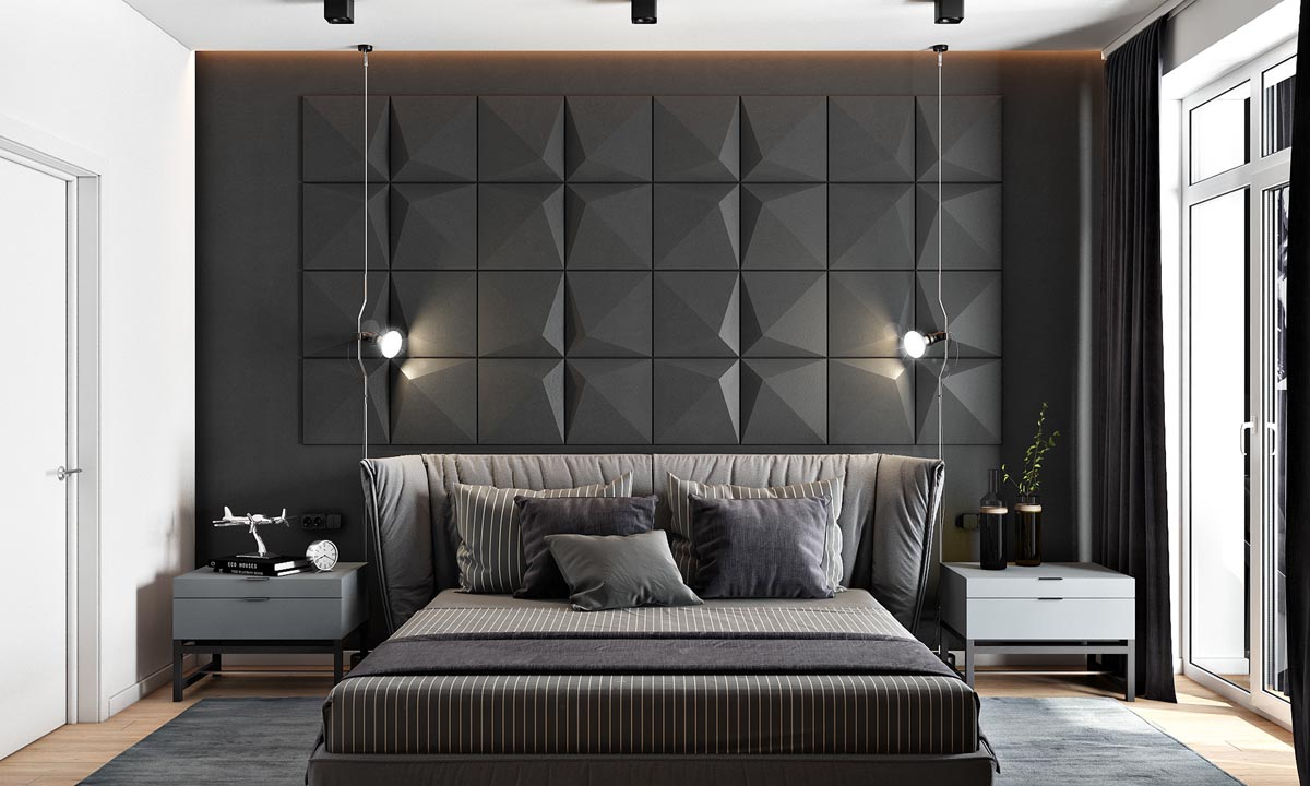 HOME DESIGNING: 2 Masculine Interiors In Shades Of Grey