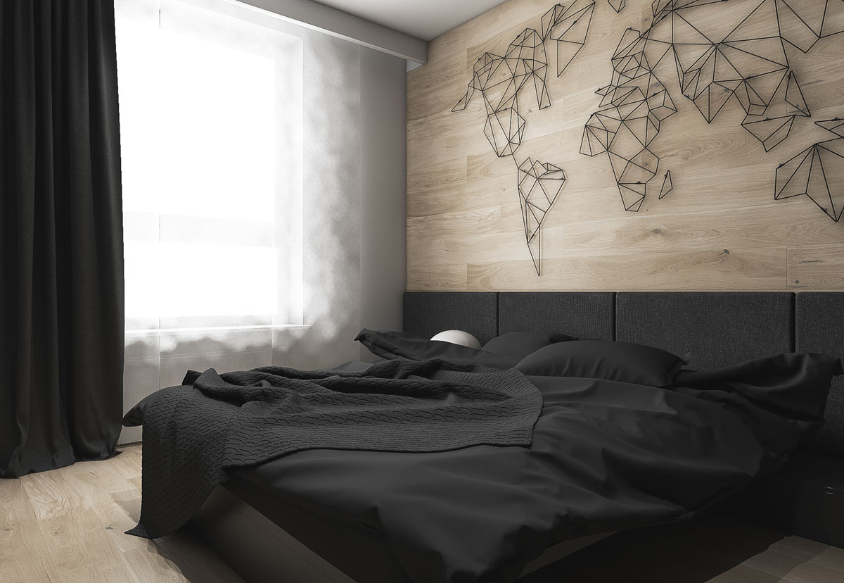 Dark Grey White Amp Wood Tone Decor With Personal Flair