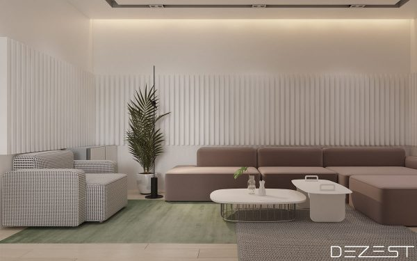 Sitting at a modest 105sqm this apartment in dnepr ukraine uses shades of mauve and grey to create a dreamy yet elegant space