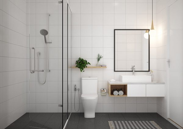 40 Modern Minimalist Style Bathrooms – Free Autocad Blocks