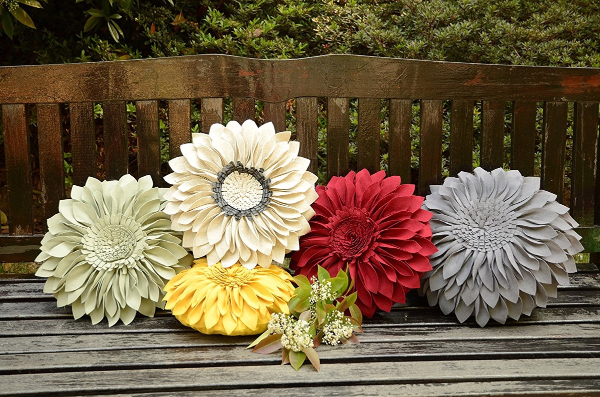 Product Of The Week: Beautiful Flower Shaped Throw Pillows