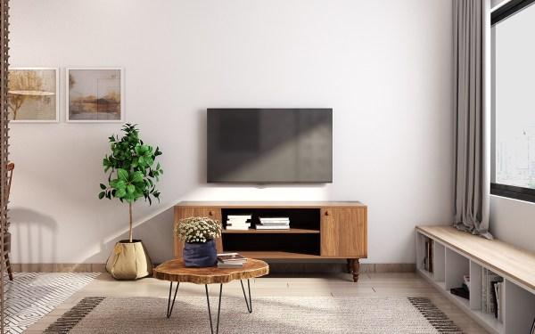 Tampilan ruang tengah dengan warna pastel. (Foto: Home Designing).