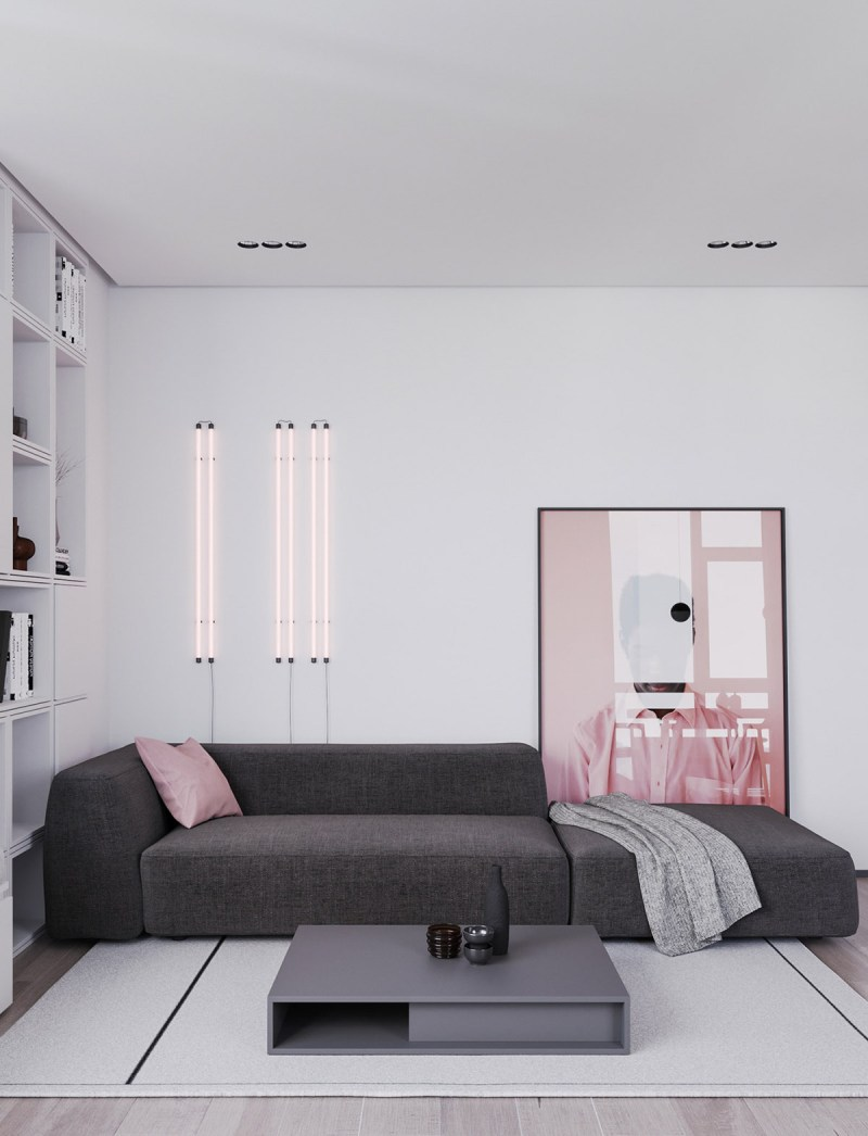 Interior Design Using Pink & Grey