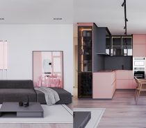 grey-pink-interior-210x185 Home Of Surreal Interiors & Modern Empire Style Upholstery in Victoria