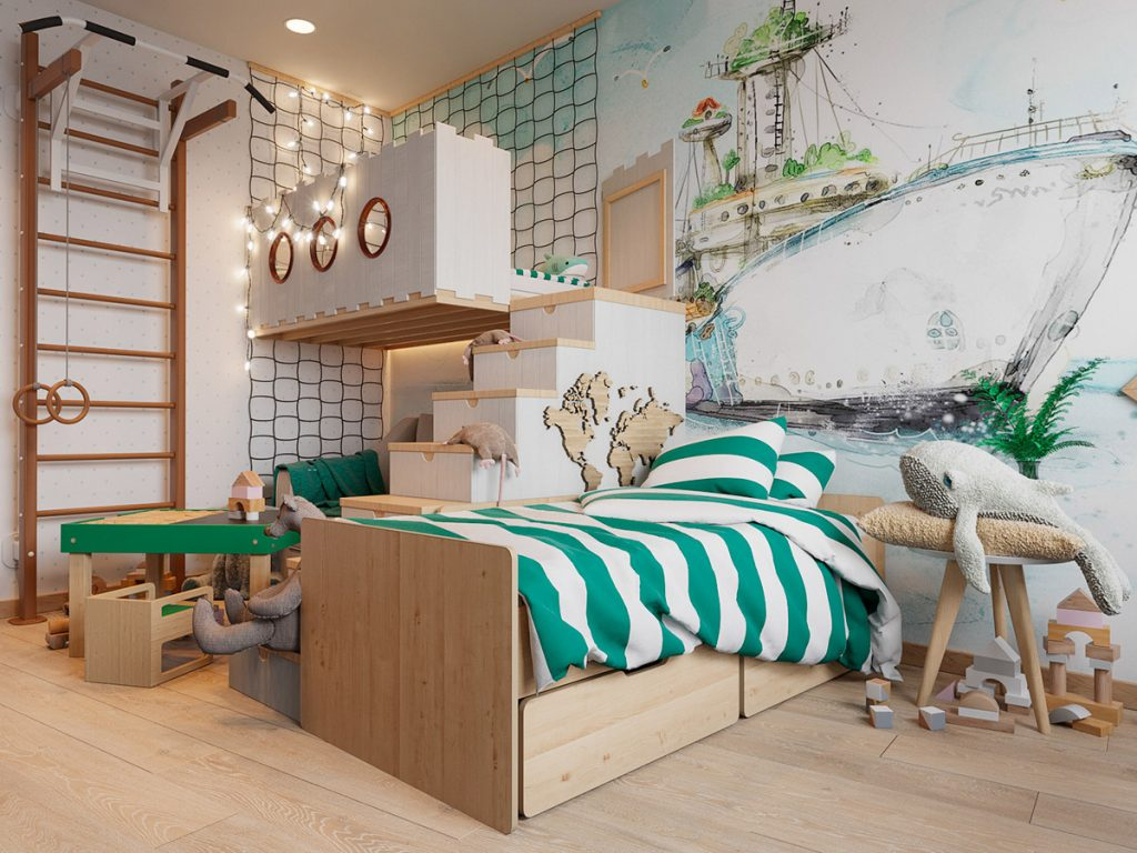Scandinavian Style Interior Infused With Garden Greenery