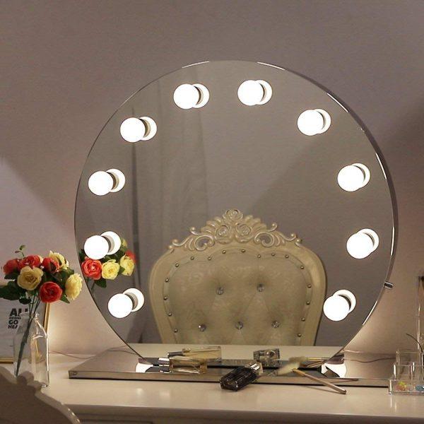 Round Light Bulbs Vanity