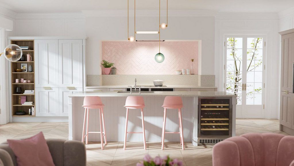 51 Inspirational Pink Kitchens With Tips & Accessories To