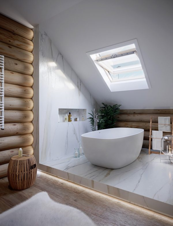 Bathroom-skylight-600x783 Indoor Skylights: 37 Beautiful Examples To Tempt You To Have One For Yourself