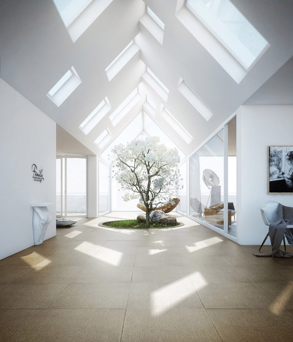 Indoor-skylights-600x701 Indoor Skylights: 37 Beautiful Examples To Tempt You To Have One For Yourself