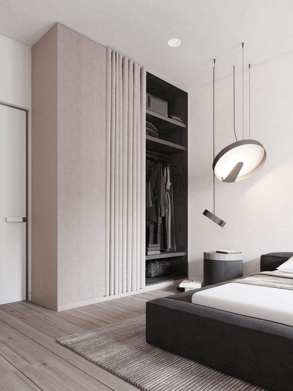 Luxury-closet-design-600x800 Black, White & Beige Apartment For The Fashionista