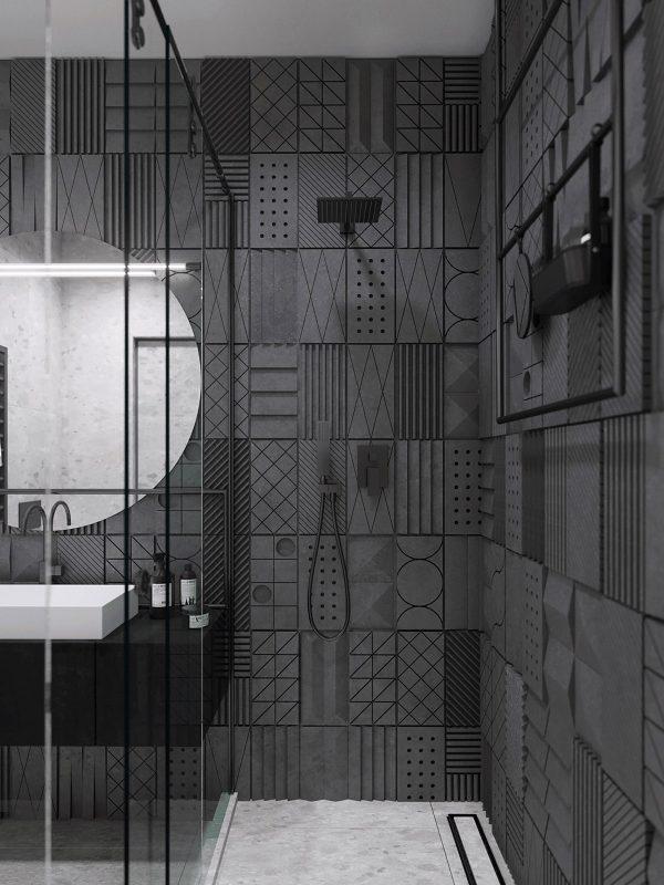 Luxury-tiles-600x800 Black, White & Beige Apartment For The Fashionista