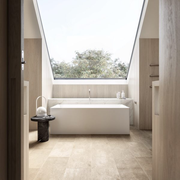 Modern-bathroom-with-skylight-600x600 Indoor Skylights: 37 Beautiful Examples To Tempt You To Have One For Yourself
