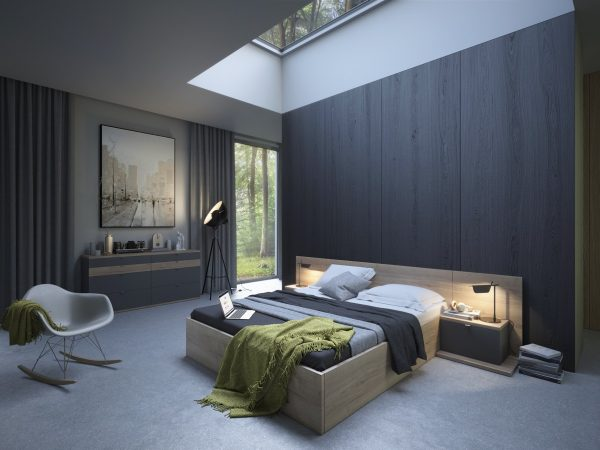Skylight-above-bed-600x450 Indoor Skylights: 37 Beautiful Examples To Tempt You To Have One For Yourself