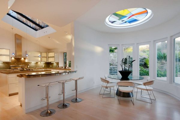 Stained-glass-skylight-600x400 Indoor Skylights: 37 Beautiful Examples To Tempt You To Have One For Yourself